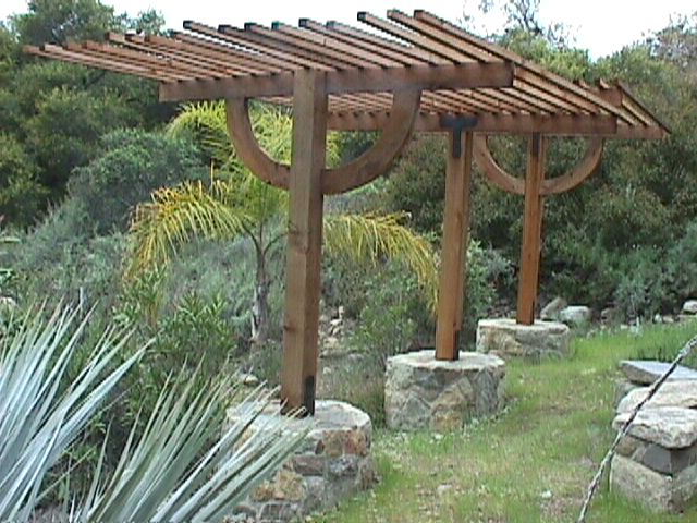 Wood and Stone Arbor